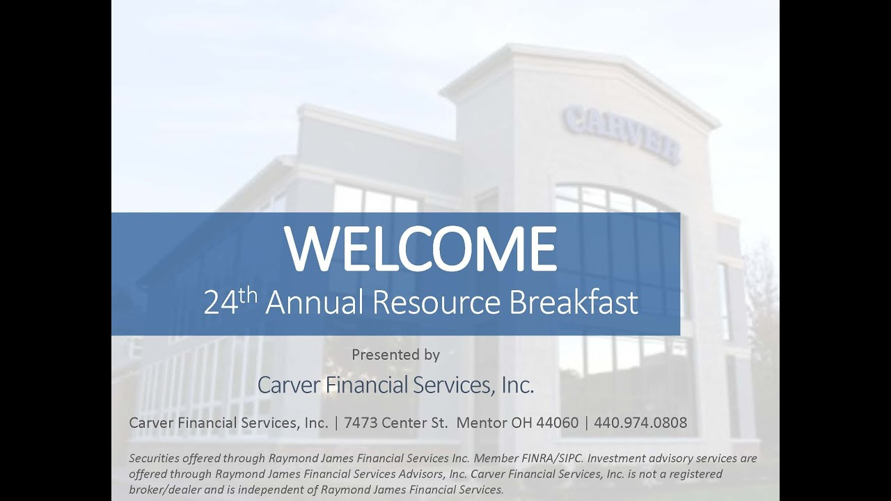 2020 Carver Financial Annual Resource Breakfast